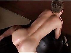 Multiple cumshots on lucky twink's ass