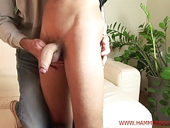 Nasty straight guy Honza Sykora gets handjob from Hammerboys