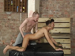BDSM cute young boy tied with rope gag pt. 1
