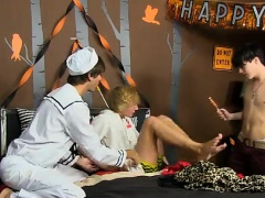 Hot boy twink do sex with some men gay porn Halloween can be