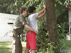 Twink Fox gets searched by a patrolman