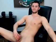bored man nude on camera