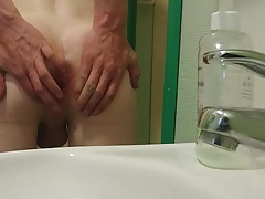 Huge cock and hot cumshot
