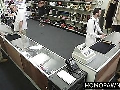 Staff tricked amateur dude into gay sex