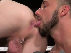 Male model gay porn europe Aiden Woods is on his back and ye