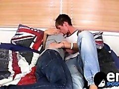 Conor showing his oral gymnastics as he licks Kais cock