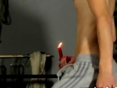 Bound twink waxed and sucked off