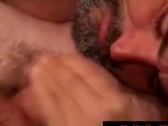 Hairy straight bear has deep throat experiences