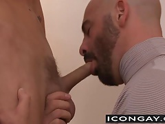Adam Russo gives Trent Ferris a blowjob and a hard pounding
