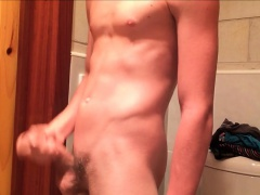young son cums on-hand me