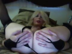 Sexy Blond Crossdresser Tasha Dirty Talking