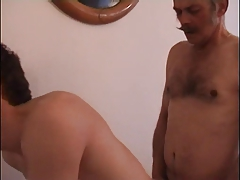 Old man moustachu get fucked by a twink
