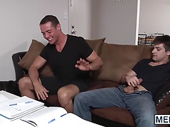 Johnny Rapid bounces up and down Brendans excited cock