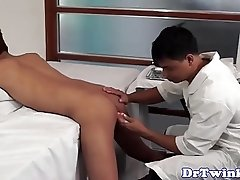 Asian twink barebacked screwed by doctor