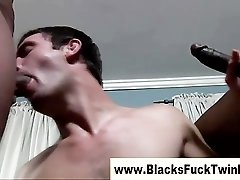 Interracial twink has threesome with blacks