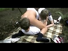 First Time Gay Twinks Outdoor Threesome