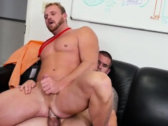 Young male twinks having gay sex First day at work